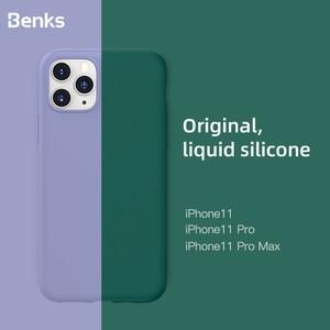 Image 1 - Benks coque de téléphone en Silicone liquide pour iphone 11/11 Pro/11 Pro Max Anti chute Protection complète peau lisse téléphone coque arrière
