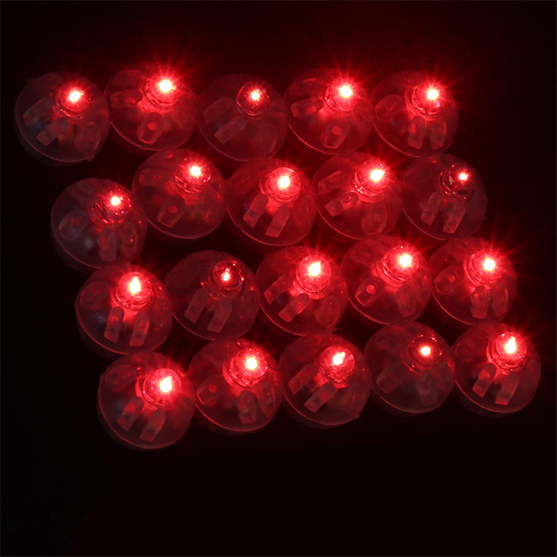 10pcs lot Mini LED Flash Balloon Lamps Luminous Lights for Lantern Christmas Wedding Party Decoration in Party DIY Decorations from Home Garden