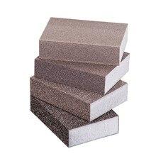 4x губки шлифовании песочный кильблок Деревянная мебель из металла для удаления ржавчины полировка наждачной бумагой Портативный и удобный