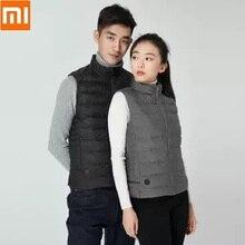 Xiaomi Cottonsmith Смарт Температура Контролируемая лихорадка 90% пуховик на гусином пуху, белая майка для мужчин и женщин, 4-скоростной Температура управления