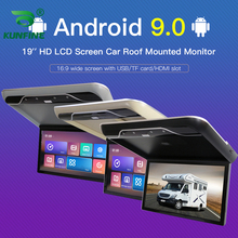 Digital-Screen Roof-Mount Video-Ceiling 19inch-Display Android Lcd-Flip Overhead Multimedia