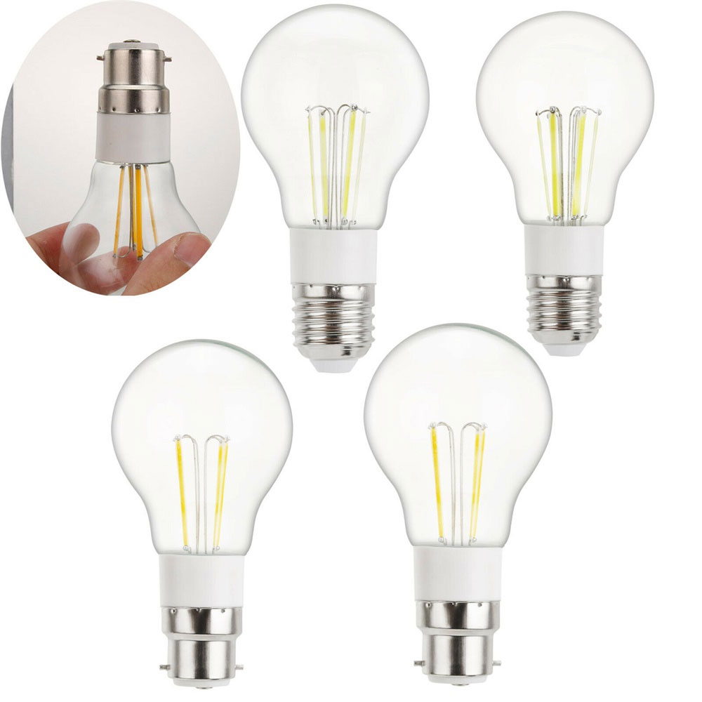 <font><b>LED</b></font> Bulb Filament Light B22 E27 <font><b>3W</b></font> 4W 6W <font><b>LED</b></font> Lamp AC 240V 220V DC <font><b>12V</b></font> COB <font><b>LED</b></font> Filament light Decor Home lamp 110V 230V image