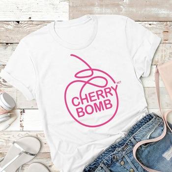 Женская футболка с изображением вишневого бомба NCT Kpop Nct Dream, футболка Nctzen K-Pop Fandom Nct127, суперчеловеческие футболки, хлопковая Футболка Tumblr