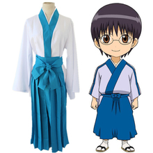 Anime Gintama Cosplay Costumes Shinpachi Shimura Costume Kimono Halloween Party Game Silver Soul