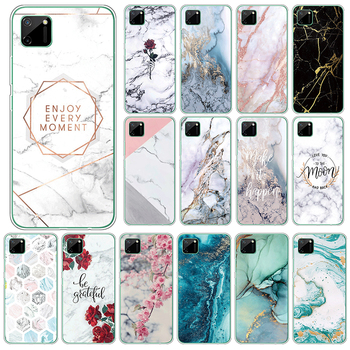 Marble Case For Oppo Realme C11 4G Soft Silicone Back Cover For OppoRealme C11 C 11 RealmeC11 6.5 Phone Cases TPU Fundas Coque image