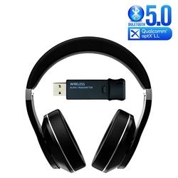 AptX Low Latency/LL Bluetooth 5.0 Headphone + USB Audio Transmitter Hifi Wireless Headset With Mic Noise Reduction for TV PC PS4