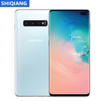 Used Samsung Galaxy S10+ S10 Plus Unlocked Phone 8& 128GB Octa Core 6.4 faster charging 855 NFC 4G LTE Mobile Phone Android