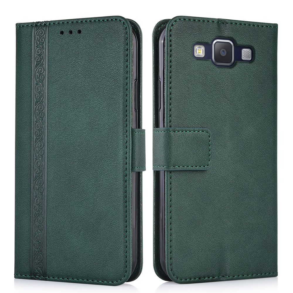 Carteira de couro caso para samsung galaxy a5 2015 a500 a500f SM-A500F capa traseira caso da aleta do telefone para samsung a52015 a500f