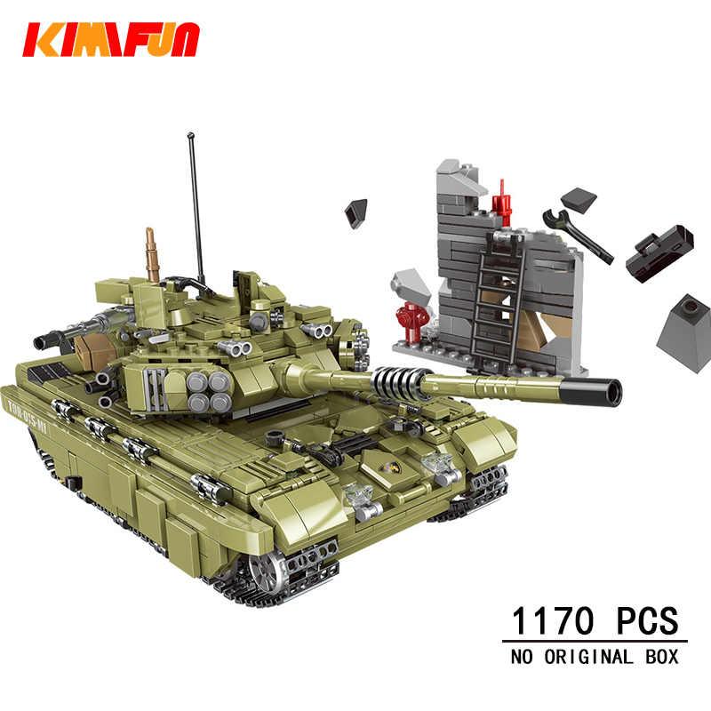 1000 + pièces militaire réservoir modèle blocs de construction armée soldat arme briques enfants jouets simulé guerre Machine Compatible Legoings