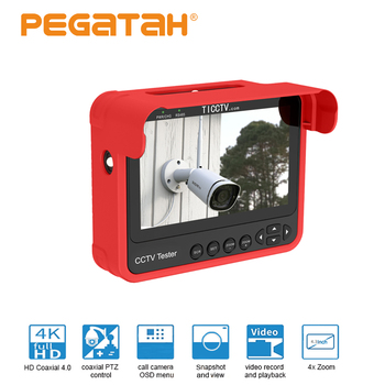 Nowy tester kamery monitoringu 4 3 tester kamery na nadgarstek przenośny tester kamery monitoringu HD wsparcie analogowe CVBS CVI TVI AHD 5MP automatyczna adaptacja tanie i dobre opinie PEGATAH 10-20 m 3 6mm 1 3 inch CMOS TI-N8V7 Ue wtyczka CCTV tester