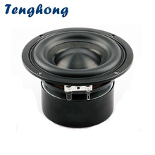 Tenghong 1PCS Ceramic Cap 4 inch Subwoofer Speaker 116mm Unit 50W Black Diamond Alumina Cap Woofer LoudSpeaker Desktop Deep Bass