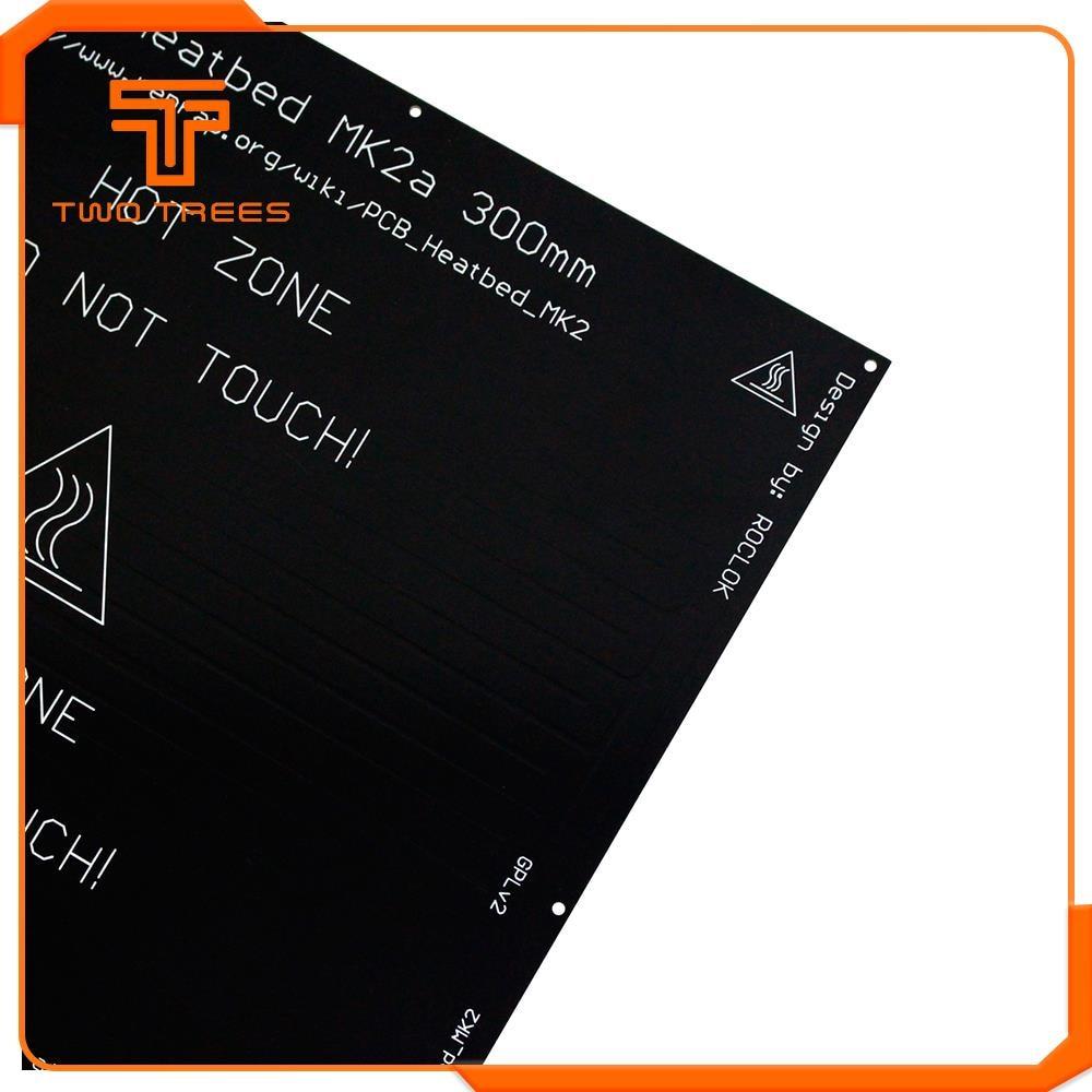 Image 3 - 300*300*2.0 MK2A RepRap RAMPS 1.4 PCB Heatbed Plate MK2A LED Resistor cable 100k ohm Thermistors PCB heat bed 328*328    -