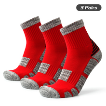 3 Pairs Unisex Sports Socks Anti Slip Performance Athletic Crew Basketball Soccer Running Climbing Trekking