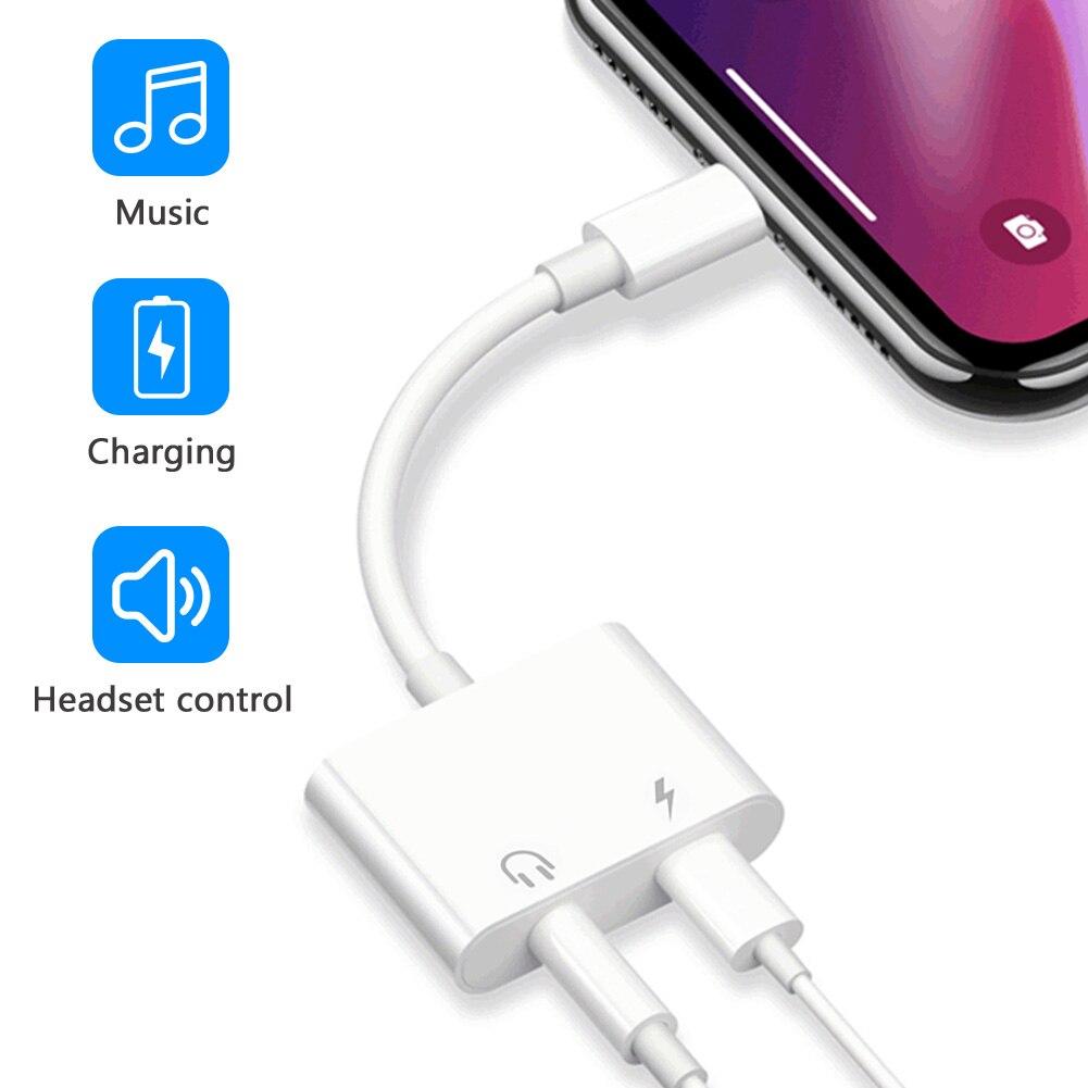 Для светло-нин к 3,5 мм для наушников аудио Aux адаптер для iPhone 12 pro X 8 7 с разъемом подачи внешнего сигнала Aux зарядный кабель адаптера Dongle IOS 14