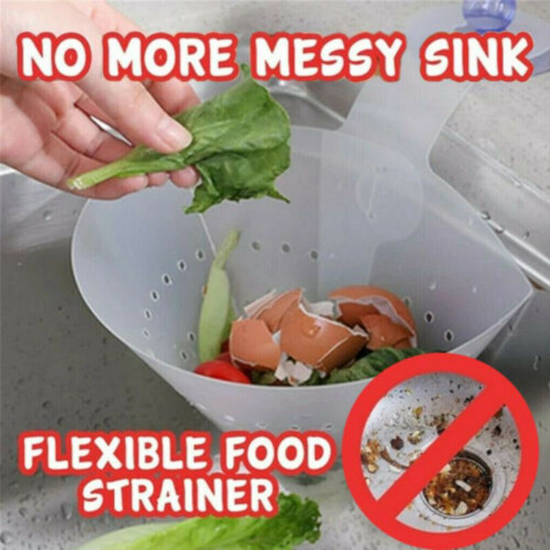 Kitchen Self-standing Sink Drain Leftover Juice Separate Juice Filter Foldable Simple Sink Filter  Collapsible Drain Filter