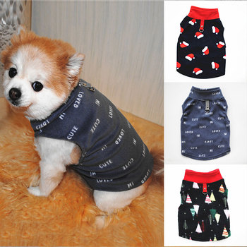 Dog Clothes Soft Fleece Pet Clothing For Small Medium Dogs Vest Dog Shirt Autumn Winter Warm Puppy Cat Costume Outfit Ropa Perro image