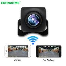 자동차 후면보기 카메라 와이파이 HD 나이트 비전 후면보기 카메라 무선 방수 와이파이 백업 카메라 12V 지원 안드로이드 및 Ios