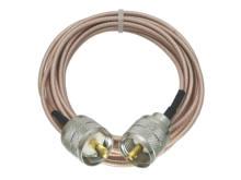 Rg316 rf trança pl259 uhf macho plug para pl259 uhf macho conector rf jumper trança cabo reto 4 polegada 10 10 m
