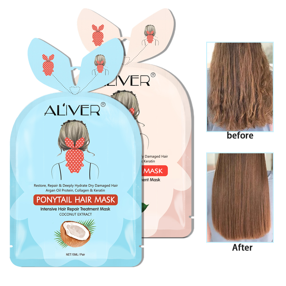Hair Care Mask Tonic Hair Treatments Damaged Hair Botanucal Repairs Hair Keratin Scalp Magical Deep Natural Dry TSLM1 Coconut