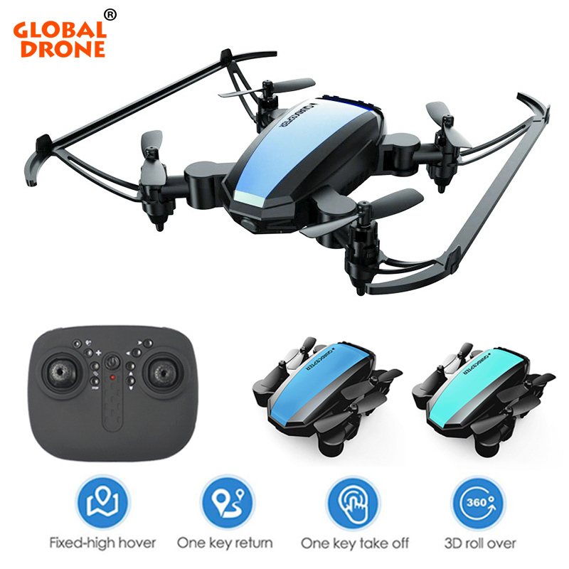 Global Drone GW125 карманные Дроны для детей удержание высоты вертолет мини Дрон Wifi FPV Дрон Juguetes Квадрокоптер VS E58 S9W