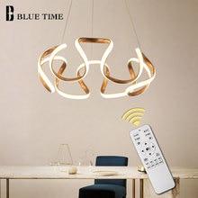 цена Hanging Lamp Modern LED Pendant Light Dining Room Bedroom Living Room Modern LED Pendant Lamp Ceiling Fixture Coffee&Golden&Gray онлайн в 2017 году