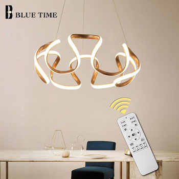 Hanging Lamp Modern LED Pendant Light Dining Room Bedroom Living Room Modern LED Pendant Lamp Ceiling Fixture Coffee&Golden&Gray - DISCOUNT ITEM  37% OFF All Category
