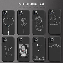 Abstracte Kunst Minnaar Telefoon Case Voor Iphone 6 6 S 7 8 Plus X Xr Xs 5 5 S Se soft Tpu Voor Iphone 11 11Pro Max Case Capa Nieuwste(China)