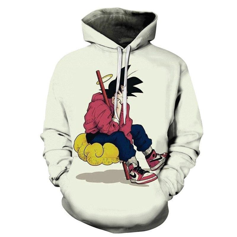 Anime Dragon Ball Z 3D Cartoon Hoodies Pocket Hooded Sweatshirts Pullovers Men Women Cool Dragonball Goku Outerwear Fashion Coat