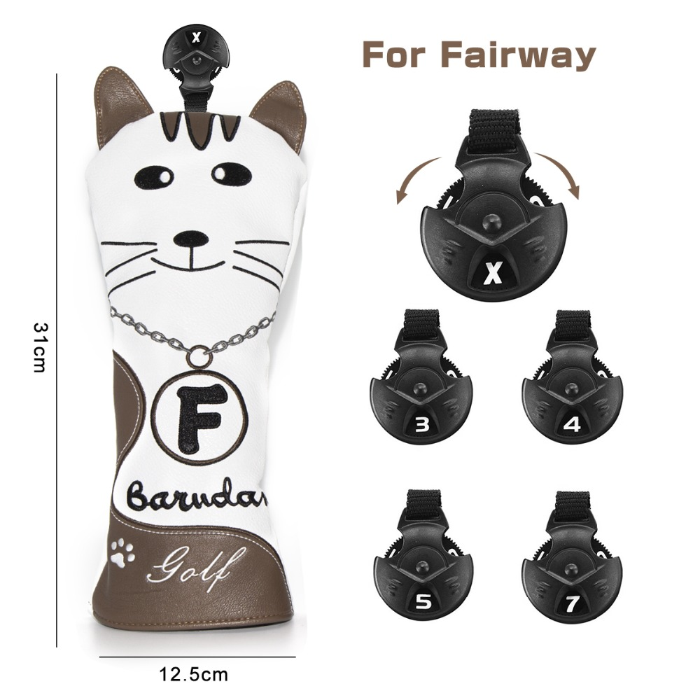 5 golf club head covers for drivers utility rescue fairway clubs,golf club headcovers, driver cover,utility cover,rescue cover fairway wood cover,UT cover