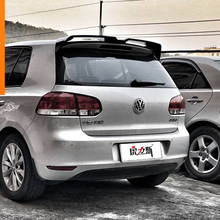 цена на For VW Golf 6 Spoiler ABS Material Car Rear Wing Primer Color Rear Spoiler For Volkswagen MK6 6 Spoiler 2010-2013