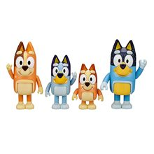 4 pces bluey família brinquedo figura feito um multi-colorido brinquedo presente para suas crianças bluey brinquedos à mão para crianças