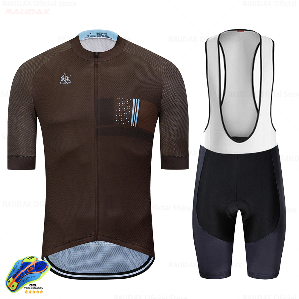 logas Cycling Jersey and Bib Shorts Men Short Sleeve Bicycle Clothing Kit Summer MTB Suit