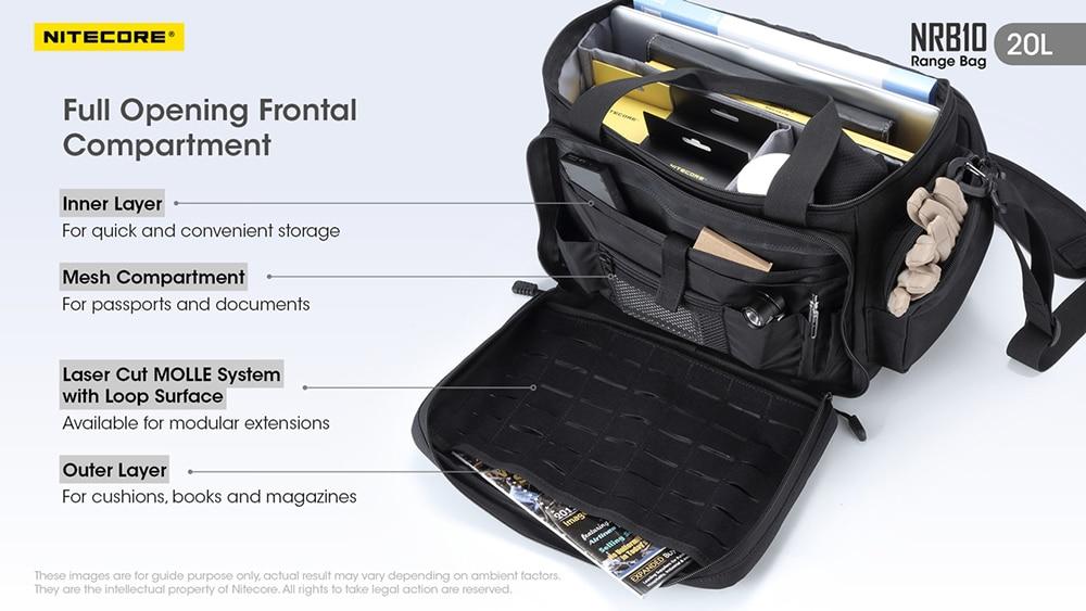 NITECORE NRB10 20L Multi-Purpose Shoulder Bag, travel bag, hiking, shoulder, sling bag, beg bimbit