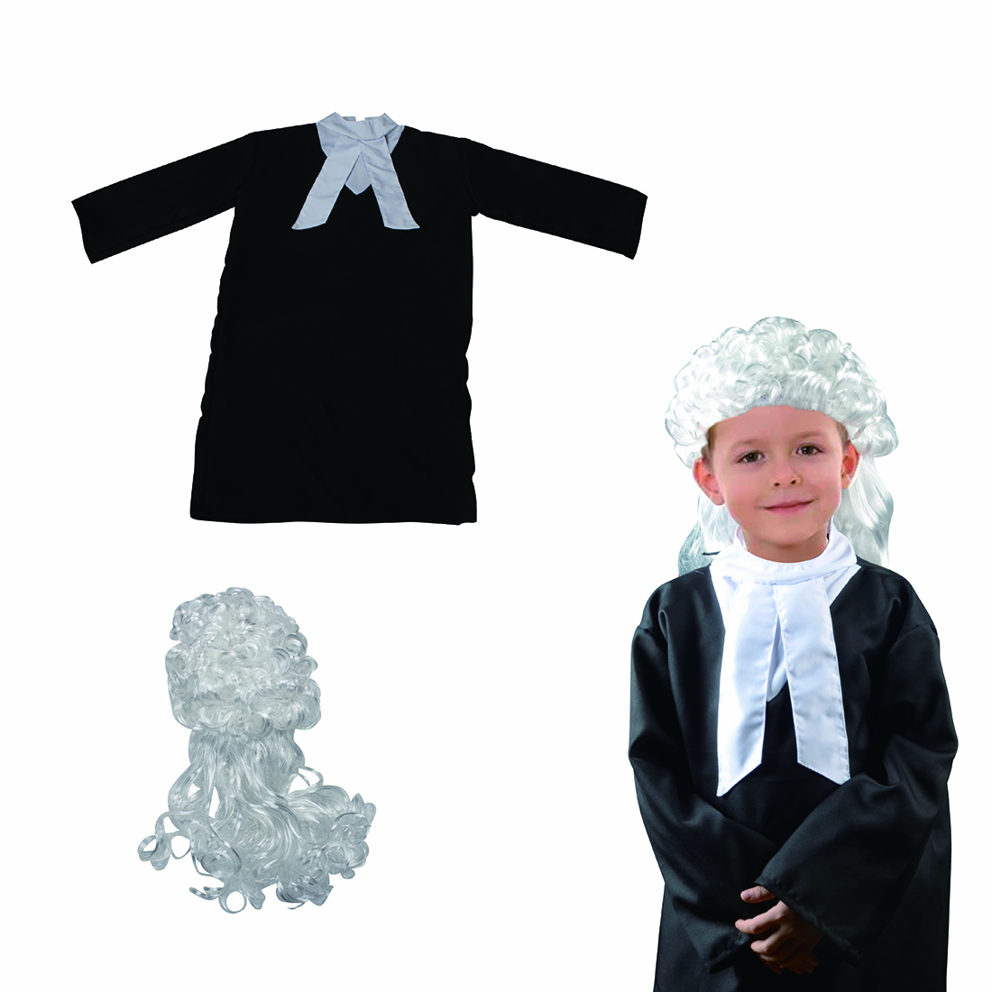 Children Pretend Play Toys Lawyer /Captain /Judge Role Play Fancy Dress Costume Set