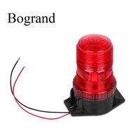 Bogrand 12 24 فولت الأحمر النار LED منارة الطوارئ تحذير ضوء فلاش البناء في ليلة السلامة صاعق ومّاض أضواء-في مصباح التنبيه من الأمن والحماية على