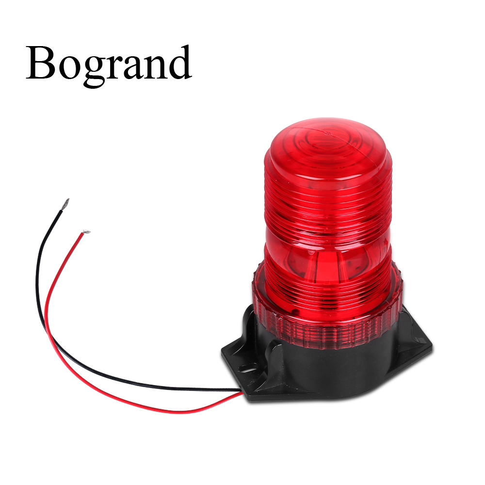 Bogrand 12-24V Red Fire LED Beacon Emergency Warning Flash Light  Construction At Night Safety Strobe Flashing Lights
