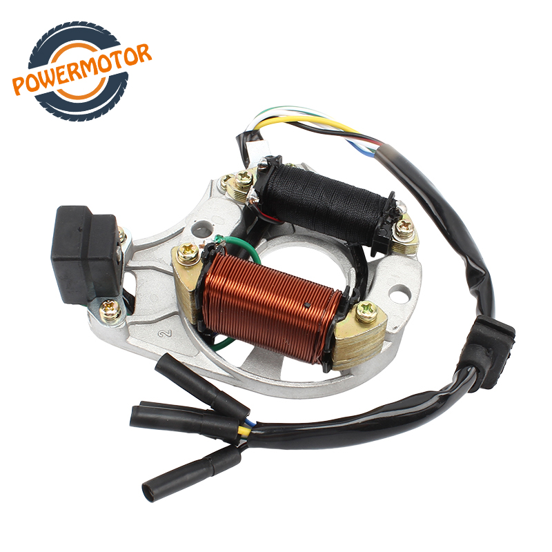 High Quality Motorcycle Generator Stator Coil Magnet <font><b>Motor</b></font> For ZS Lifan Loncin 70CC-<font><b>125CC</b></font> Engines Pit Dirt Bike image