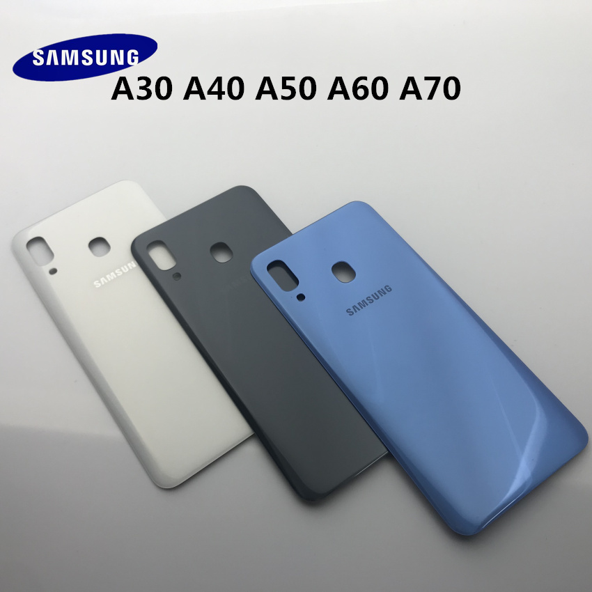 Original <font><b>Samsung</b></font> <font><b>Galaxy</b></font> A10 A20 A30 A40 A50 A60 <font><b>A70</b></font> 2019 Back <font><b>Battery</b></font> Cover Door Rear Housing <font><b>Case</b></font> Replacement + Adhesive Sticke image