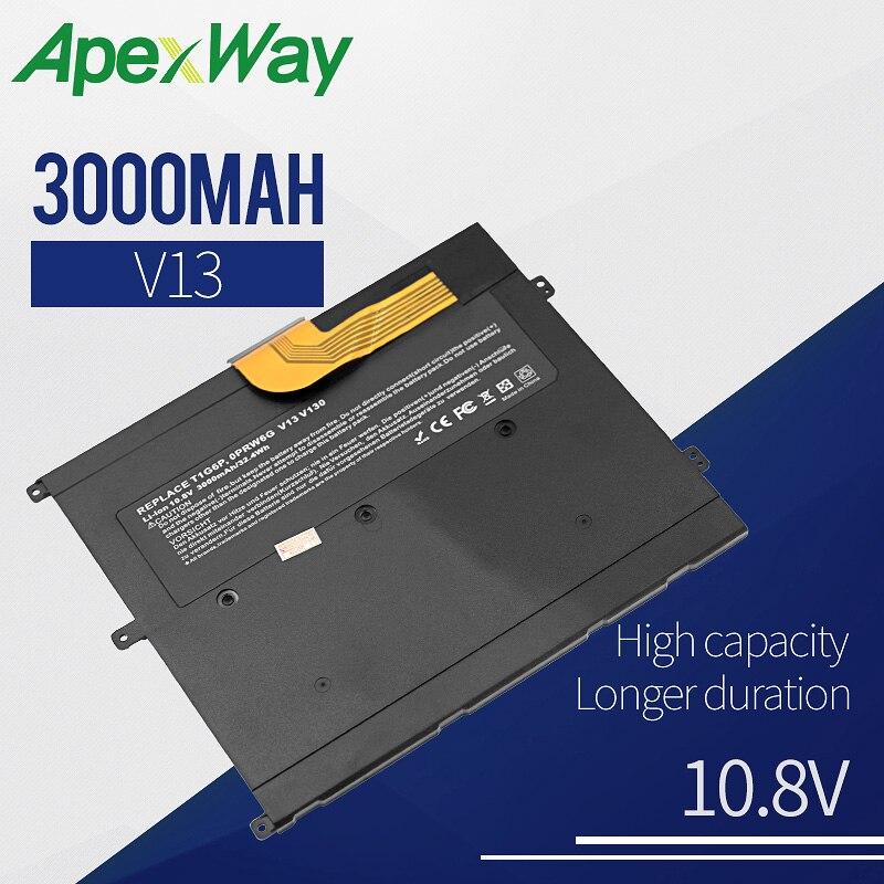 Apexway 3000 mAh Laptop Battery FOR DELL Vostro V13 V13Z V130 V1300 0NTG4J 0PRW6G 0449TX PRW6G T1G6P