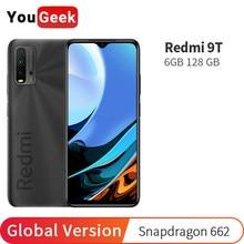 Xiaomi Redmi 9T-teléfono inteligente versión Global, 6GB de RAM, 128GB de ROM, Snapdragon 662, batería de 6000mAh, cámara trasera de 48MP, pantalla FHD de 6,53 pulgadas
