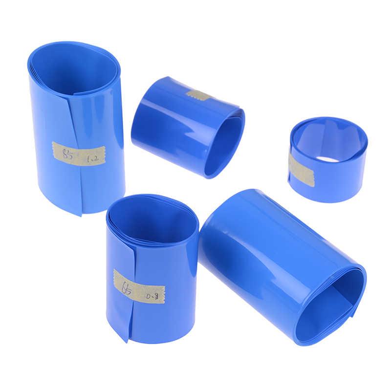 30 ミリメートル-85 ミリメートル 18650 リチウムバッテリー熱収縮チューブチューブリチウムイオンラップカバースキン PVC 収縮フィルムテープスリーブアクセサリー