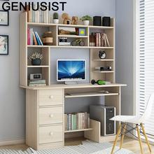 Scrivania Ufficio Tafelkleed Lap Para Notebook Tavolo łóżeczko stojak nocny Laptop Mesa biurko stół z półką tanie tanio GENIUSIST NONE HOME CHINA Laptop biurko