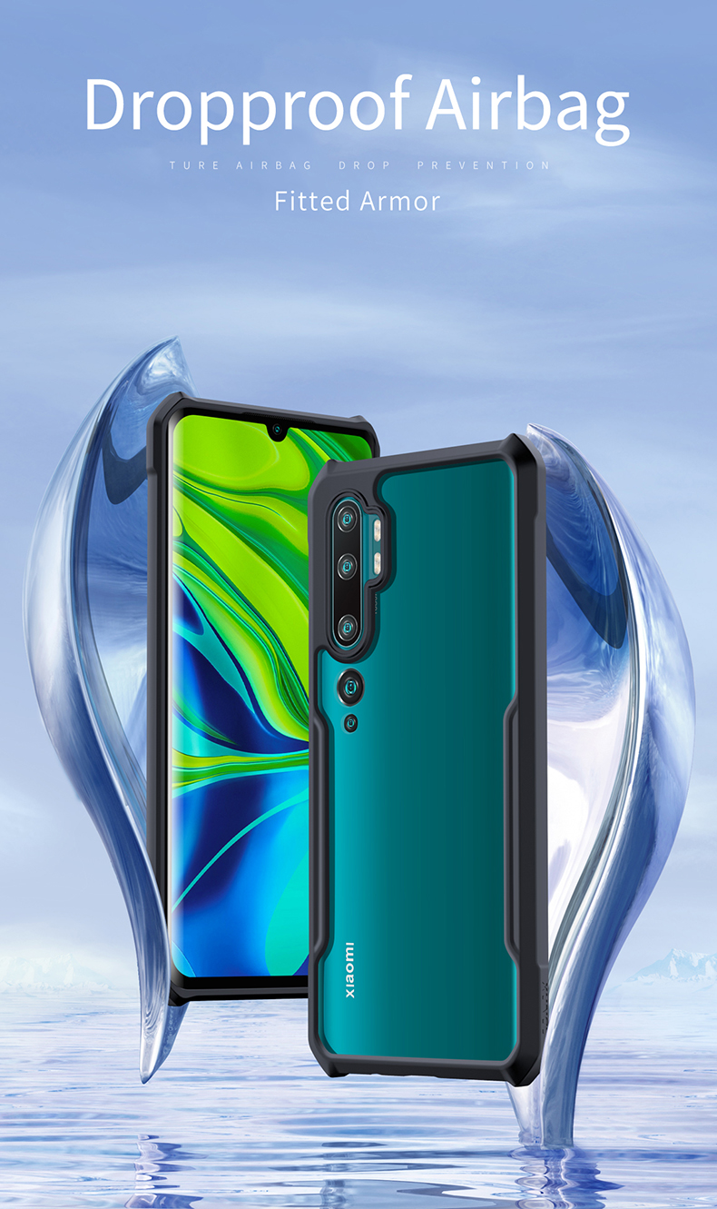 Anti-Choque Moda y Practico Funda con Cuerda para Xiaomi Mi Note 10 // Note 10 Plus, Suave Silicona Transparente TPU Carcasa de movil con Colgante//p/úrpura Anti-rasgu/ños