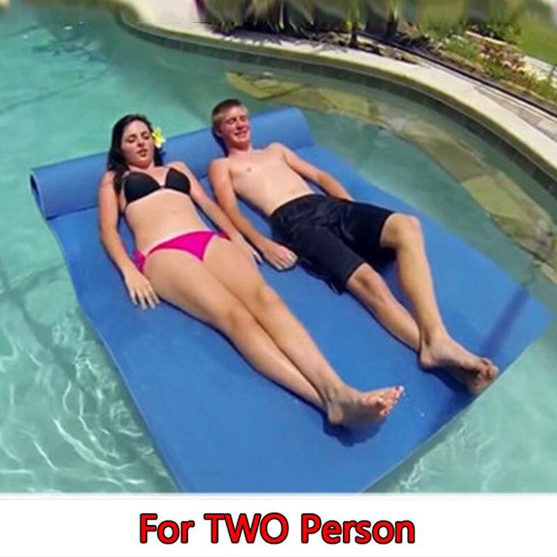 Sobre el agua flotante juguete manta de agua almohadilla de cama flotante manta de agua más suave flotador tipo alfombra entretenimiento al aire libre - 6