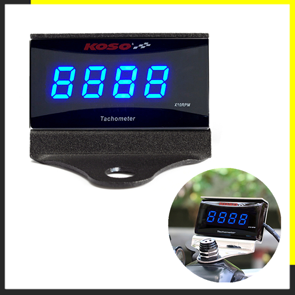 Digital Tachometer Koso Mini Square Display Gauge For <font><b>Yamaha</b></font> NVX NMAX <font><b>XMAX</b></font> 300 <font><b>400</b></font> cafe racer dio motorcycle counter RPM Meter image