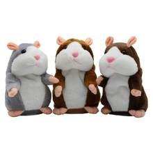 15cm bonito andando falando hamster animal de pelúcia boneca engraçado gravação de som repetir voz mudando brinquedo educacional animais estimação