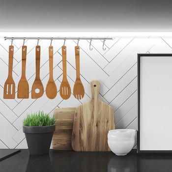 6 sztuk drewniane łyżki do wielokrotnego użytku drewna zestaw przyborów kuchennych narzędzia cosas para el hogar naczynia kuchinne zestawy naczyń do gotowania tanie i dobre opinie CN (pochodzenie) Bez pokrywę garnka 6PCS Wooden Spoons Zaopatrzony Teak