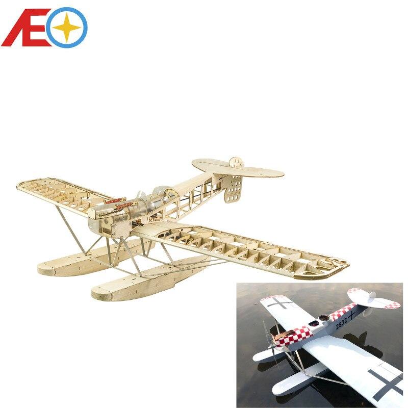Новинка 2020, набор моделей радиоуправляемого самолета Balsawood с лазерной резкой, морской самолет, плавучий самолет Hansa-brandenбург W.29, размер крыль...