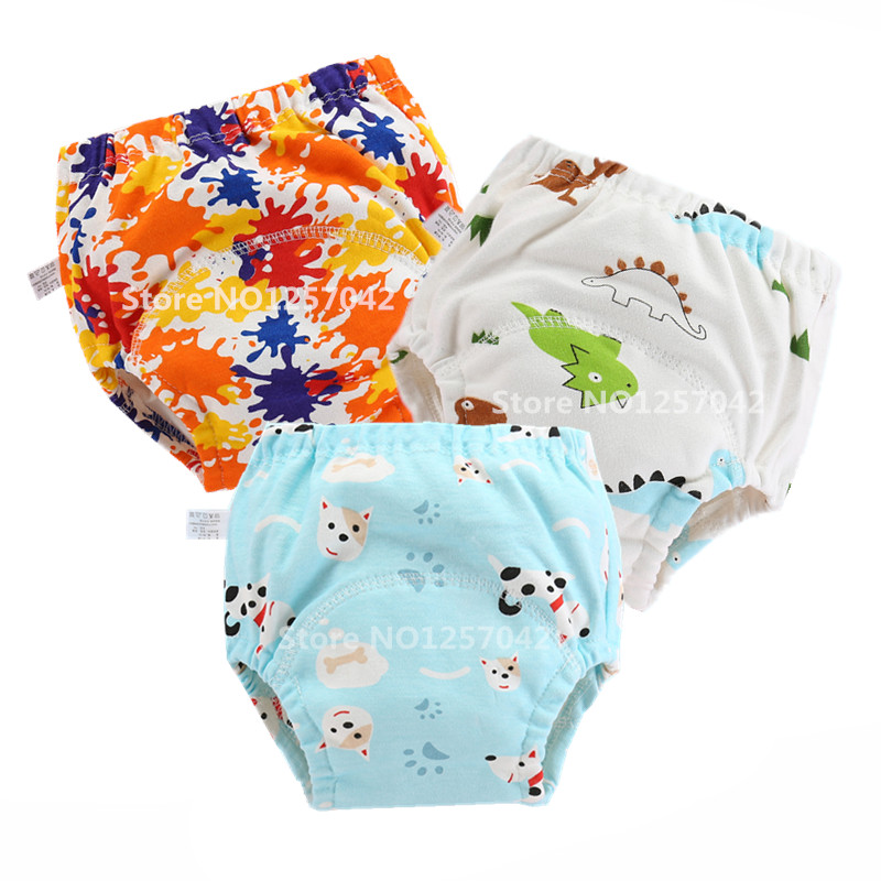 New Baby Cotton Training Pants Panties Waterproof Cloth Diapers Reusable Toolder Nappies Diaper Baby Underwear Washable