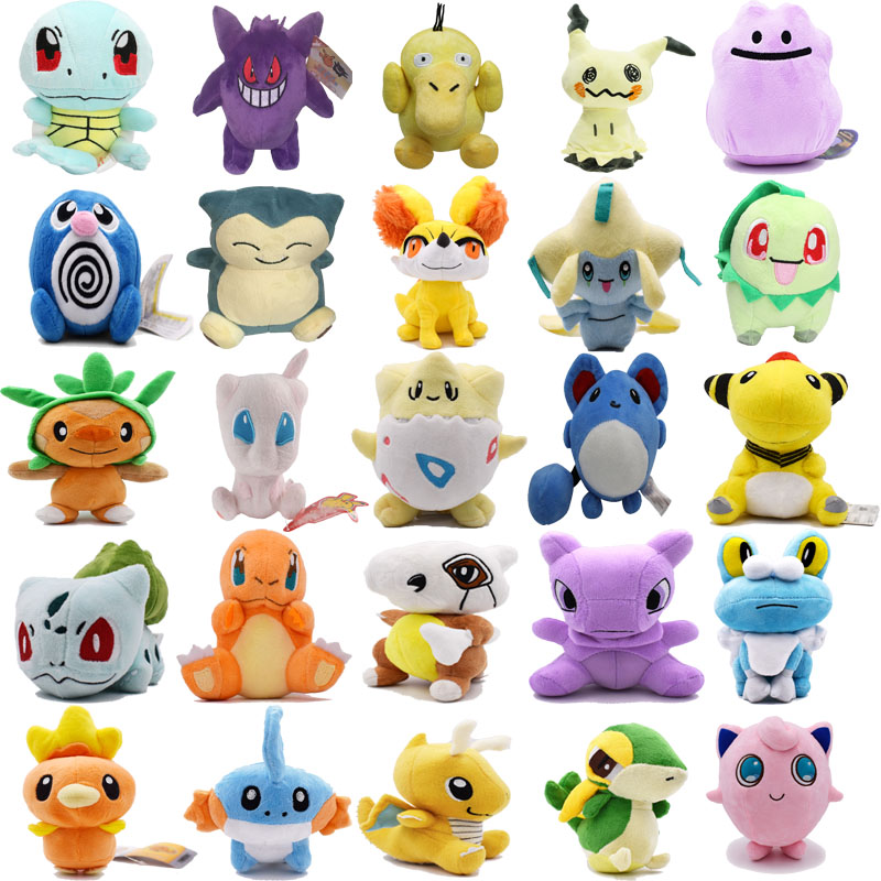 Plush Toys Mimikyu Cubone Charmander Raichu Psyduck Mew Ditto Dragonite Lapras  Peluche Stuffed Dolls For Kids Christmas Gift